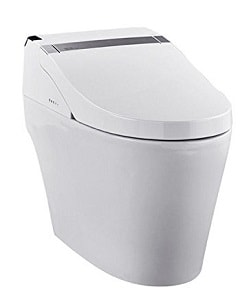Complete Electronic Toilet with Integrated Bidet Seat